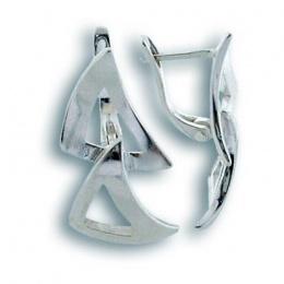 Сребърни обици без камък 136670-Oбици