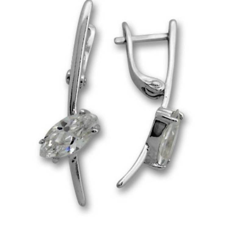 Сребърни обици с Камък 114247-Oбици