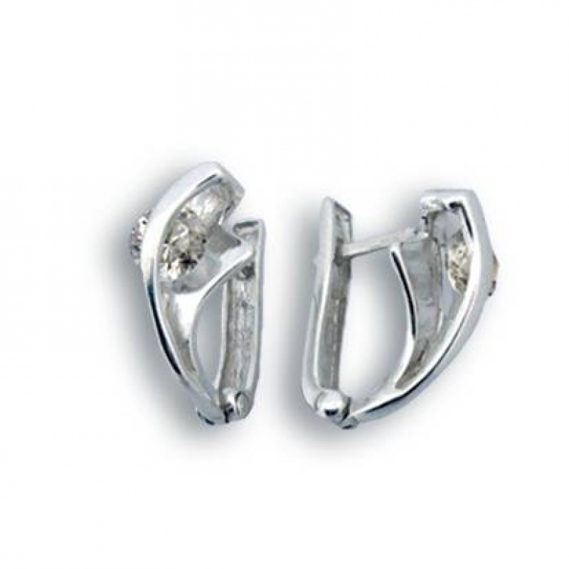 Сребърни обици с Камък 114988-Oбици