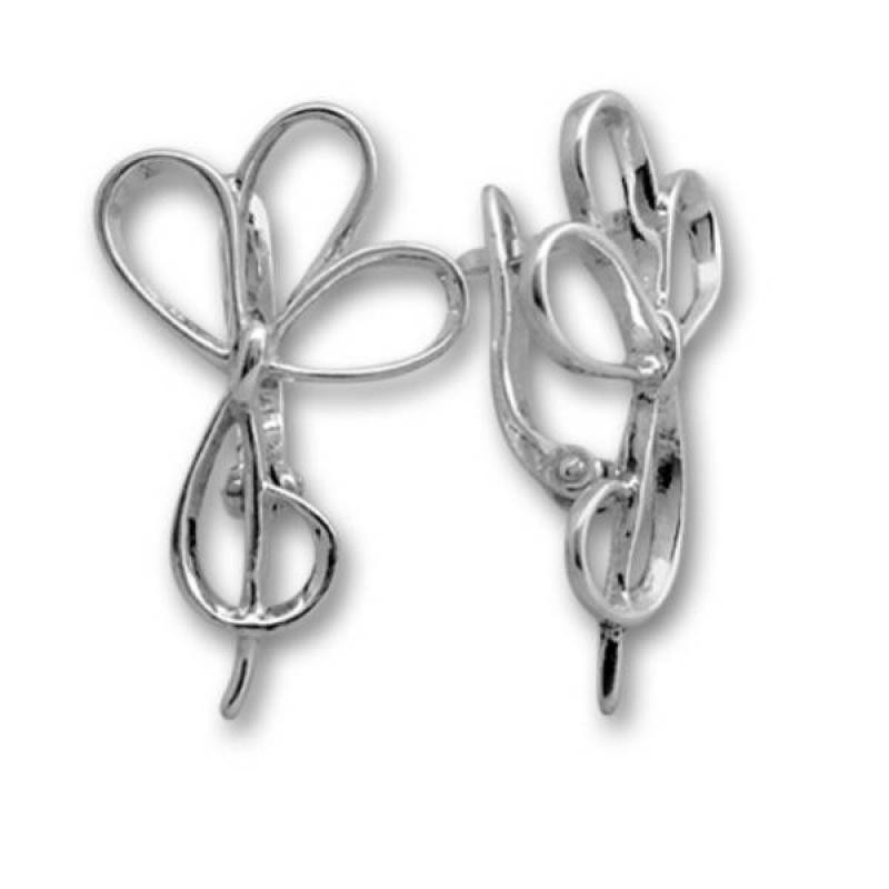 Marsha - Сребърни обици без Камък 133241-Сребърни бижута