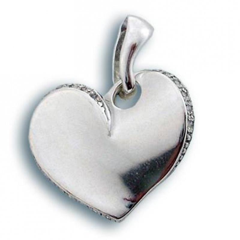 Сребърен медальон с Камък 173301-Медальони
