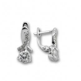 Tia - Сребърни обеци с Цирконий 139471-Сребърни бижута