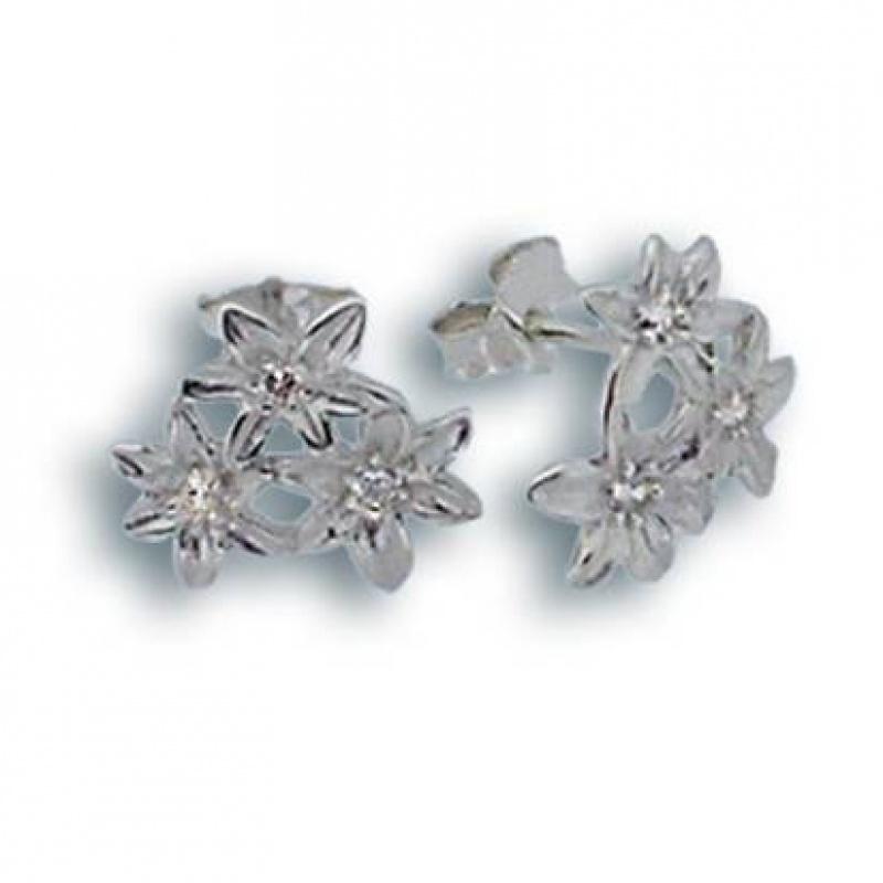 Emilia - Сребърни обеци с Цирконий 114339-Сребърни бижута