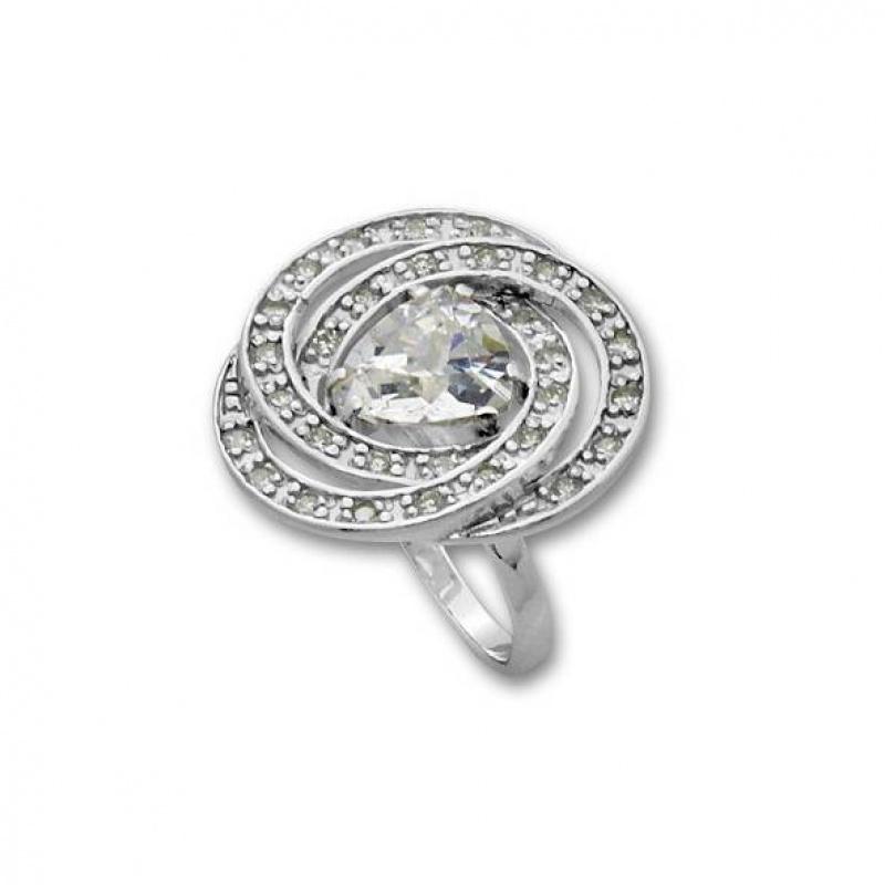 Alexandria - Сребърен пръстен с Цирконий 1615985-Сребърни бижута