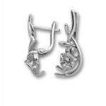 Katy - Сребърни обеци с Цирконий  121470-Сребърни бижута