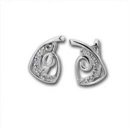 Winnie - Сребърни обеци с Цирконий  138469-Сребърни бижута