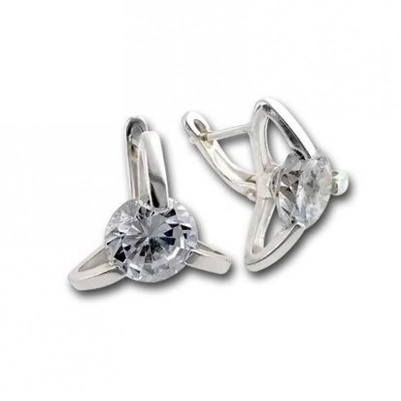 Nina - Сребърни обеци с Цирконий  122816-Сребърни бижута
