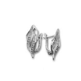 Selma - Сребърни обеци с Цирконий 138543-Сребърни бижута