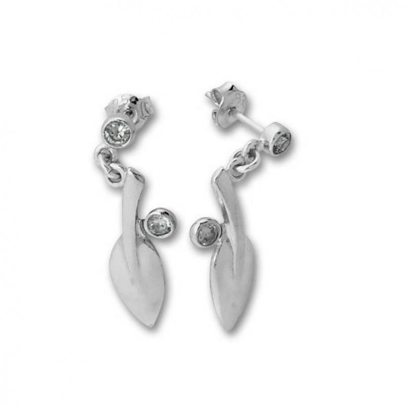 Latisha - Сребърни обеци с Цирконий 121534-Сребърни бижута