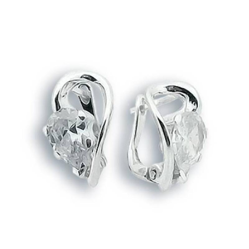 Mia - Сребърни обеци с Цирконий 122157-Сребърни бижута